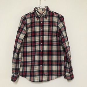Brooks Brothers Plaid Flannel Shirt navy Red 2